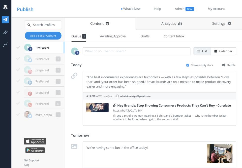 buffer social media automation platform