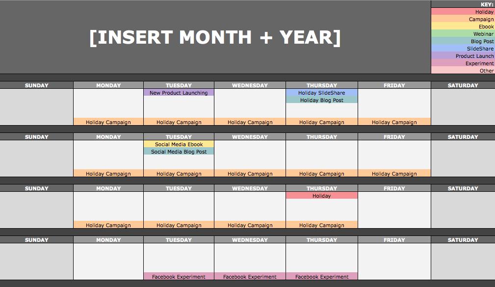hubspots content calendar