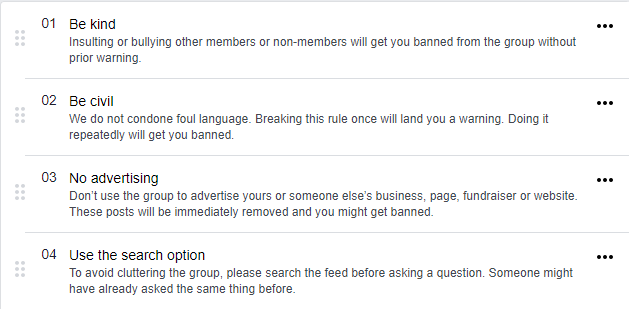 Some Facebook group alternatives have better community management options