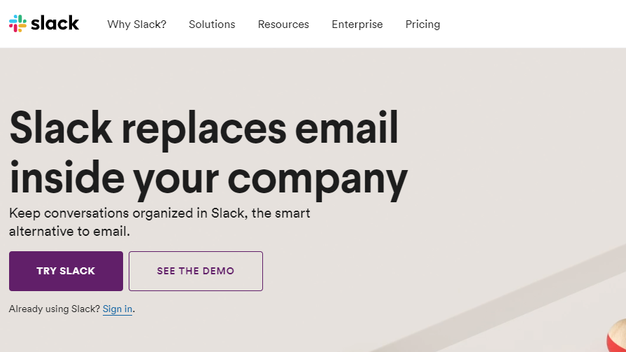 Slack is a Facebook group alternative for teams and companies