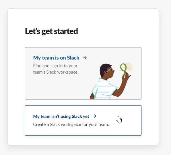 Create a new Slack community